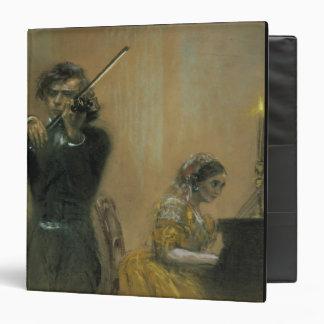"""Clara Schumann (1819-96) y un violinista, 1854 (PA Carpeta 1 1/2"""""""