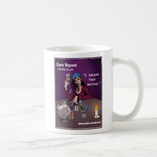 Clara Voyant- myFarcebook.com Fortune Teller/Tarot Coffee Mug