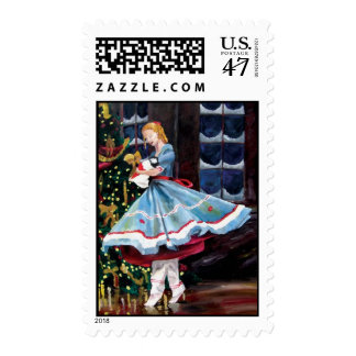Clara with Her Nutcracker Postage Stamps