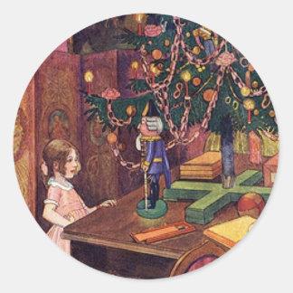 Clara y el cascanueces pegatina redonda