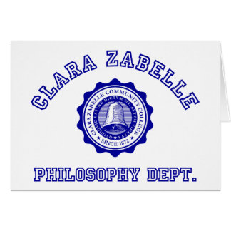 Clara Zabelle College Crest in Blue Card