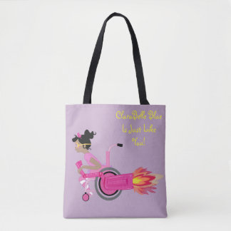 ClaraBelle Blue Perfect Tote - Lavender Dreams