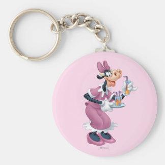 Clarabelle Cow Basic Round Button Keychain
