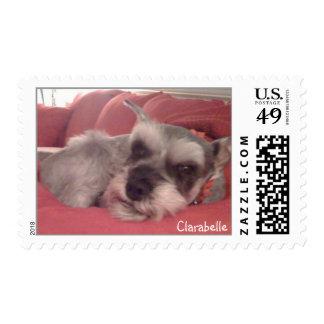 Clarabelle the Miniature Schnauzer Stamp