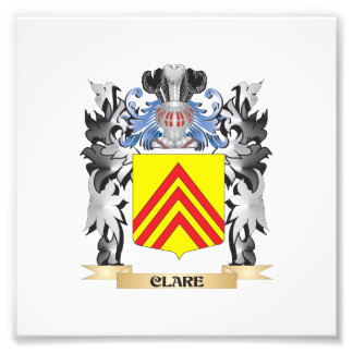 Clare Coat of Arms - Family Crest Photo Print