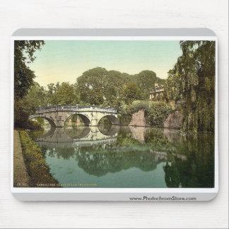 Clare College and Bridge, Cambridge, England vinta Mouse Pad
