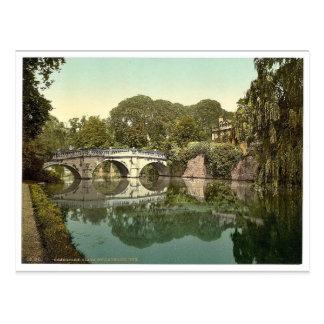 Clare College and Bridge Cambridge England vinta Post Cards