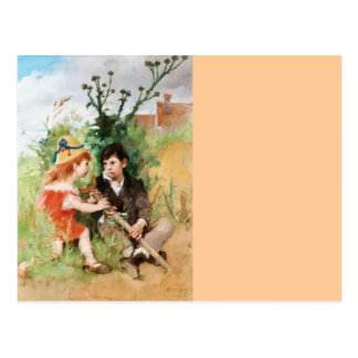 Clare con el muchacho y la muleta tarjetas postales