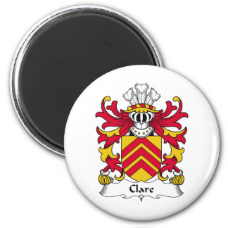Clare Family Crest 2 Inch Round Magnet