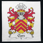 "Clare Family Crest Napkin<br><div class=""desc"">Clare Coat of Arms</div>"