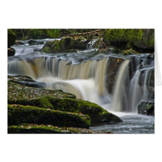 clare glens waterfall greeting card