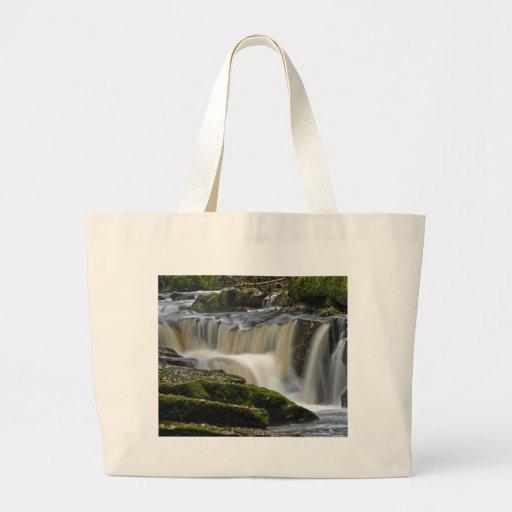 clare glens waterfall jumbo tote bag
