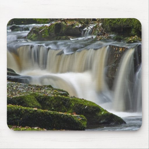 clare glens waterfall mouse pad