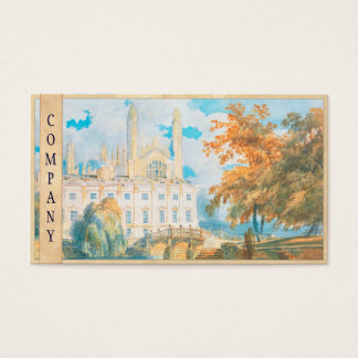 Clare Hall and King's College Chapel, Cambridge, Business Card