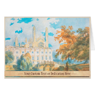 Clare Hall and King's College Chapel, Cambridge, Card