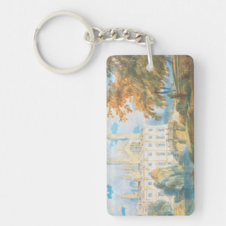 Clare Hall and King's College Chapel, Cambridge, Double-Sided Rectangular Acrylic Keychain