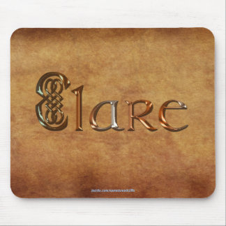 CLARE Name-Branded Personalised Gift Mousepad