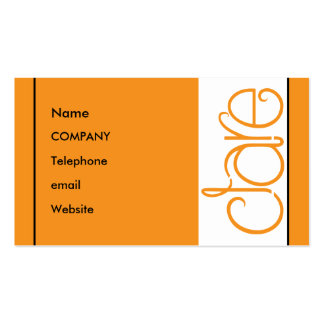 Clare orange Profile Card Double-Sided Standard Business Cards (Pack Of 100)