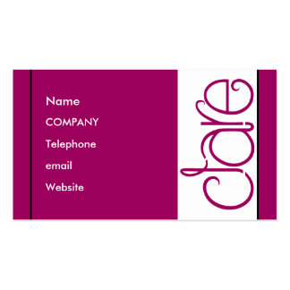 Clare plum Profile Card Double-Sided Standard Business Cards (Pack Of 100)