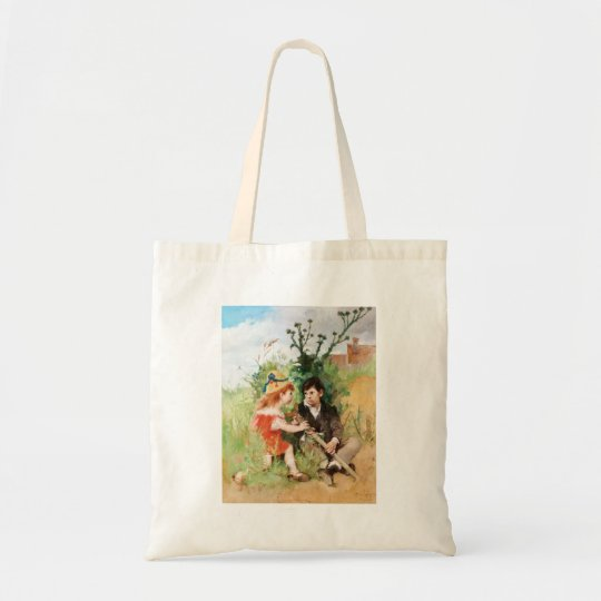 Clare with Boy and Crutch Tote Bag