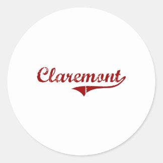 Claremont California Classic Design Sticker
