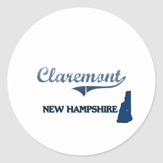 Claremont New Hampshire City Classic Stickers