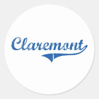 Claremont New Hampshire Classic Design Stickers