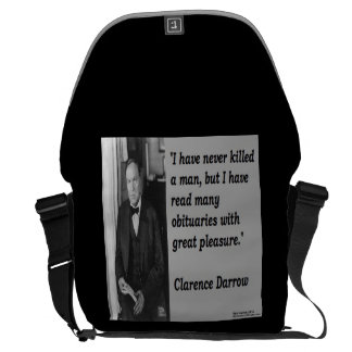 Clarence Darrow & Famous Quote Large Messenger Bag