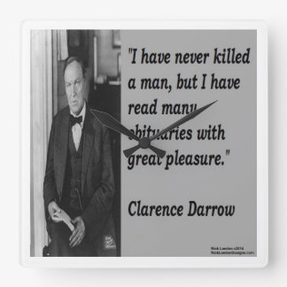 Clarence Darrow & Famous Quote Wall Clock