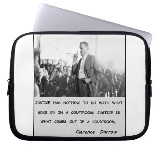 Clarence Darrow Justice Goes Out of Courtroom Laptop Computer Sleeves