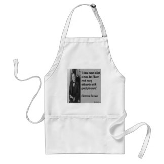 Clarence Darrow & Obituary Quote Apron