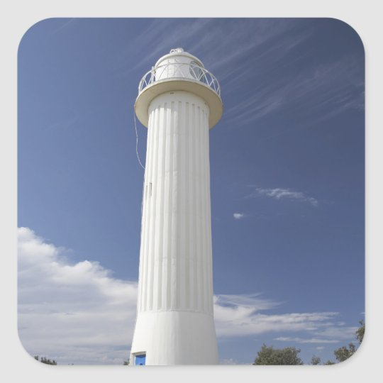 Clarence Head Lighthouse, Yamba, New South Square Sticker