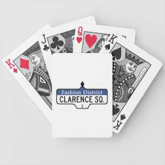 Clarence Square, Toronto Street Sign Deck Of Cards