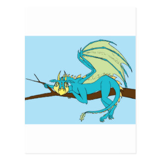 Clarence the Baby Dragon Postcard