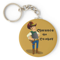 Clarence the Cowboy Keychain