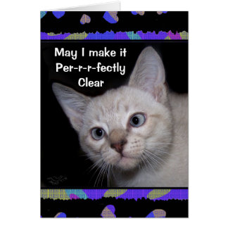 Clarence the Cross-eyed Cat Thank-you Card
