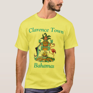 Clarence Town, Bahamas with Coat of Arms T-Shirt