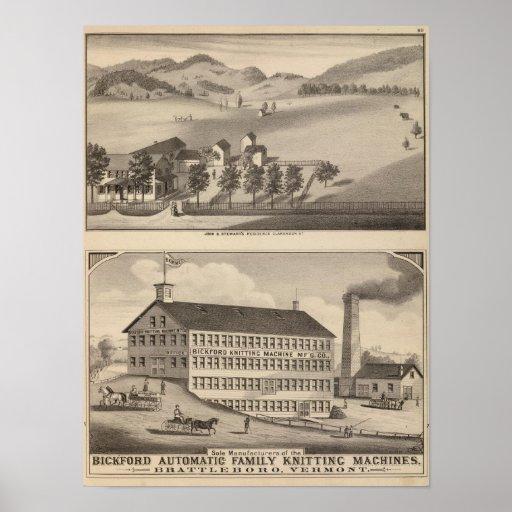 Clarendon Bickford Knitting Machine Poster