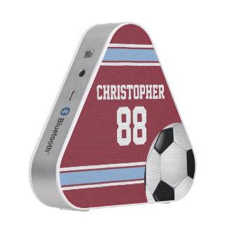 Claret and Blue Stripes Jersey Soccer Ball Speaker