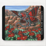 Claret Cup Dragon Fly Mousepad