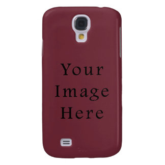 Claret Maroon Red Color Trend Blank Template Galaxy S4 Cover