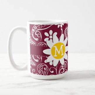 Claret Paisley; Floral; Daisy Mugs