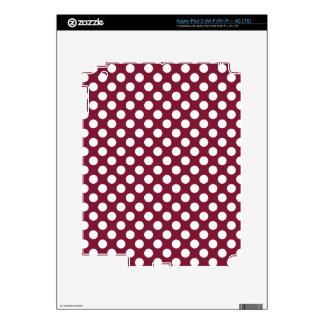 Claret Polka Dots Decals For iPad 3