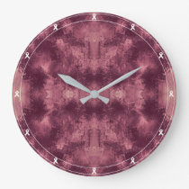 Claret Stained Pattern Large Clock