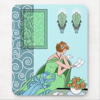 Clarice's Letter - Art Deco Fashion Design Mouse Pad