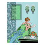 Clarice's Letter - Art Deco Fashion Design Poster