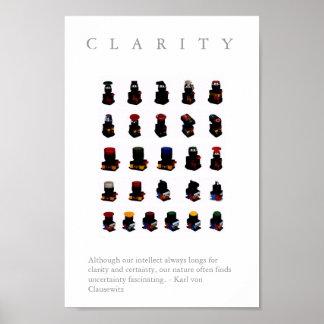 CLARIDAD - cita de motivación de la impresión W d Posters