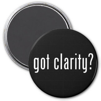 ¿claridad conseguida? Imán redondo