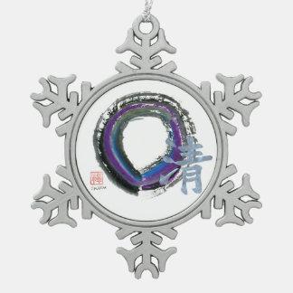 Claridad de plata, Enso Adorno De Peltre En Forma De Copo De Nieve