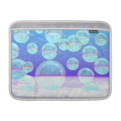 Claridad escarchada -- Belleza y profundidad azule Fundas MacBook